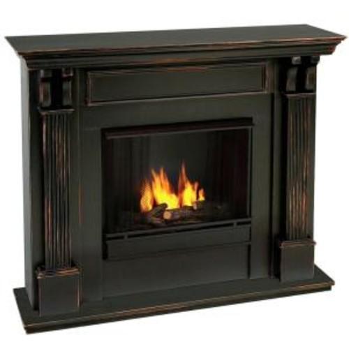 Real Flame Ashley 48 in. Gel Fuel Fireplace in Blackwash