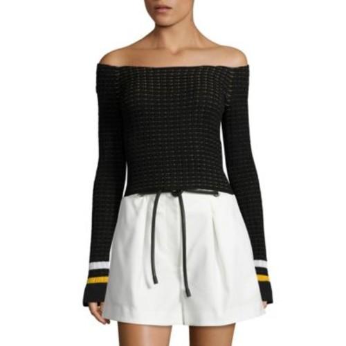 3.1 PHILLIP LIM Off-The-Shoulder Pullover