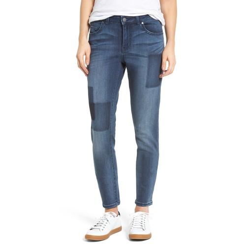 Patchwork Skinny Jeans (Regular & Petite)