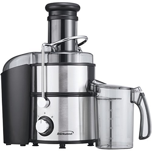 Brentwood JC-500 Appliances Juice Extractor, Silver [Silver, None]