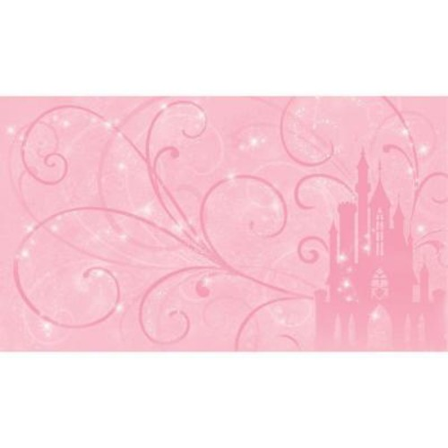 RoomMates 72 in. x 126 in. Disney Princess Scroll Castle Chair Rail Pre-Pasted Wall Mural
