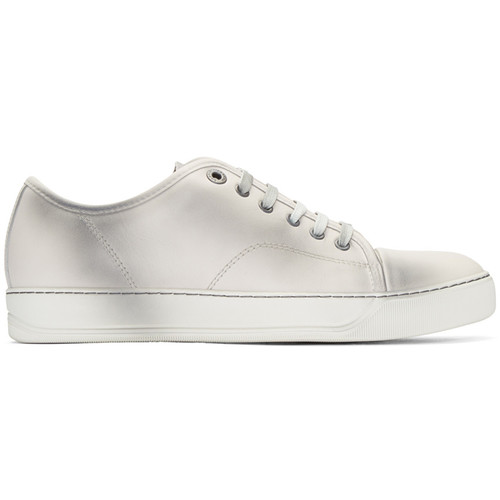 Ivory Leather Stained Sneakers