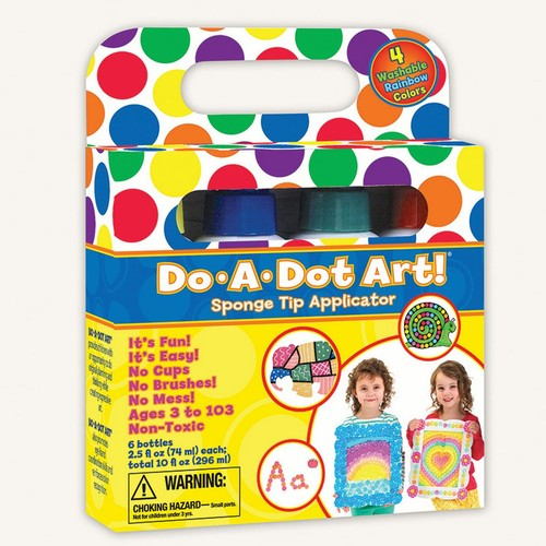 Do A Dot Art Rainbow 4 Pack Washable Dot Markers, The Original Dot Marker [Standard Packaging]