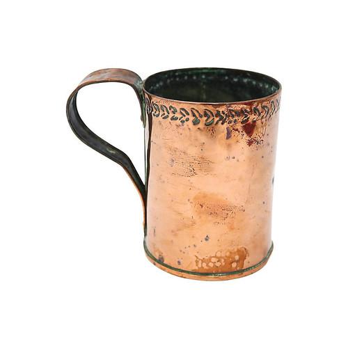 Antique English Copper Moscow Mule Mug