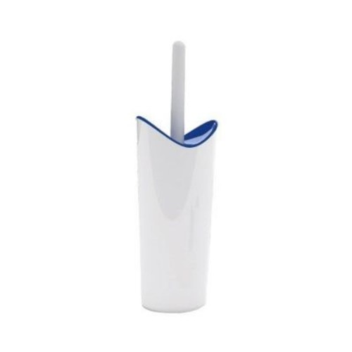 Gedy by Nameeks Moby Free Standing Toilet Brush and Holder; White and Blue