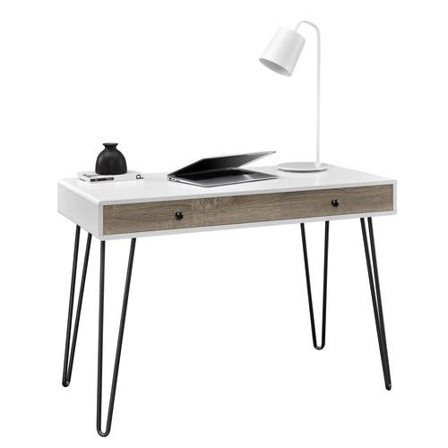 Dorel Owen Retro White/Sonoma Oak Student Desk
