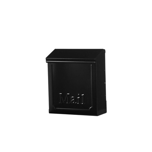 Gibraltar Mailboxes Townhouse Steel Vertical Wall-Mount Locking Mailbox, Black