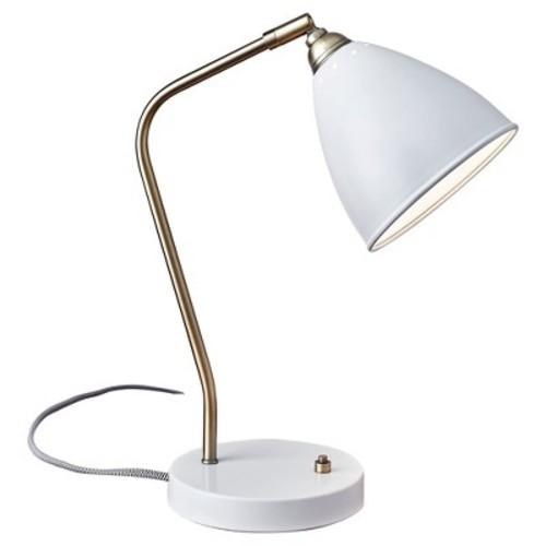 Adesso Chelsea Table Lamp - White