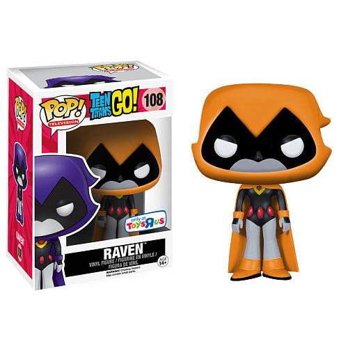 Funko POP! Television: Teen Titans Go! Vinyl Action Figure - Raven Orange