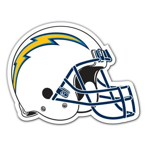 NFL Teams 12-Inch Vinyl Helmet Magnet [San Diego Chargers]