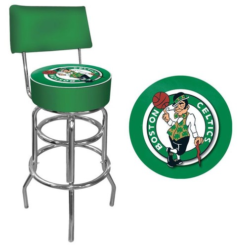 NBA(CANONICAL) Boston Celtics Padded Swivel Bar Stool with Back