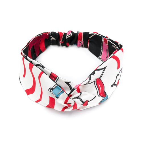 lipstick print headband