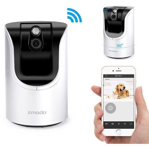Zmodo 720p HD Pan Tilt WiFi Smart Home Camera : ZH-IZV15-WAC