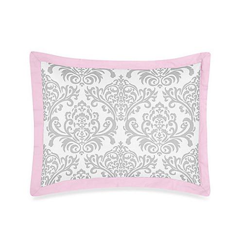 Sweet Jojo Designs Elizabeth Standard Pillow Sham in Pink/Grey