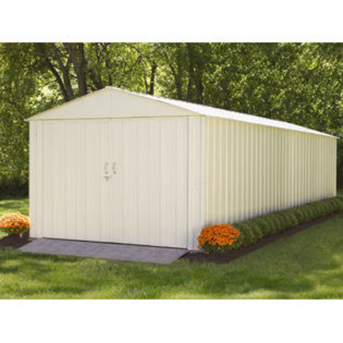 ShelterLogic Commander, 10x25, Hot Dipped Galvanized Steel, Eggshell, High Gable, 71.3