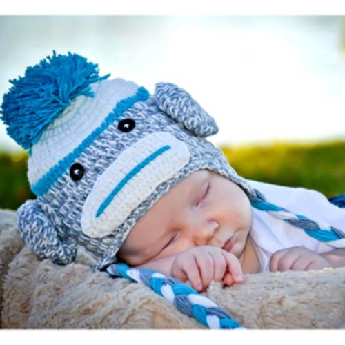 Hand Crocheted Baby Beanie Hat Beard