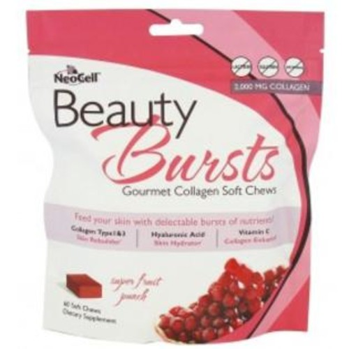 NeoCell Beauty Bursts Gourmet Collagen Soft Chews, Fruit Punch - 60 ea