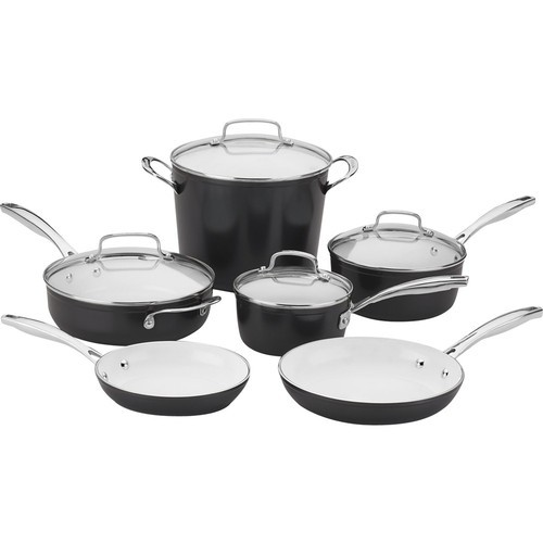 Cuisinart - Elements Pro 10-Piece Cookware Set - Black
