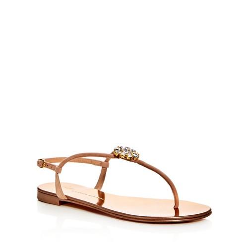GIUSEPPE ZANOTTI Rock 10 Infradito Embellished T-Strap Sandals