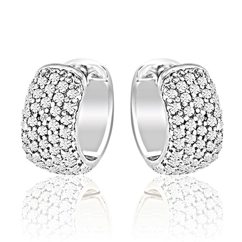 Diamond Accent Huggie Earrings