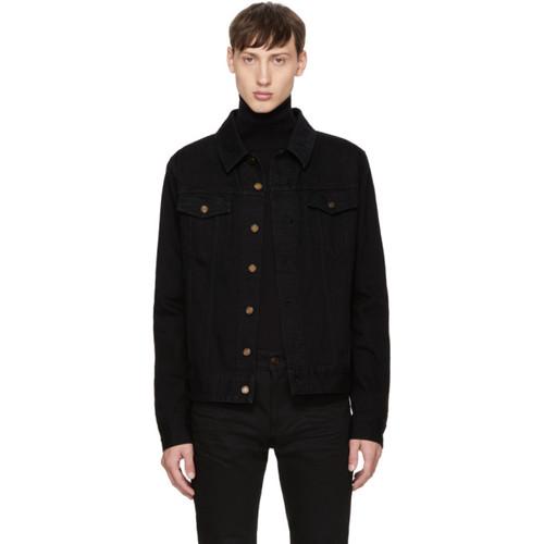 SAINT LAURENT Black Denim Jacket