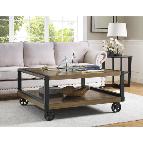 Altra Furniture Wade Rustic Gray Mobile Coffee Table
