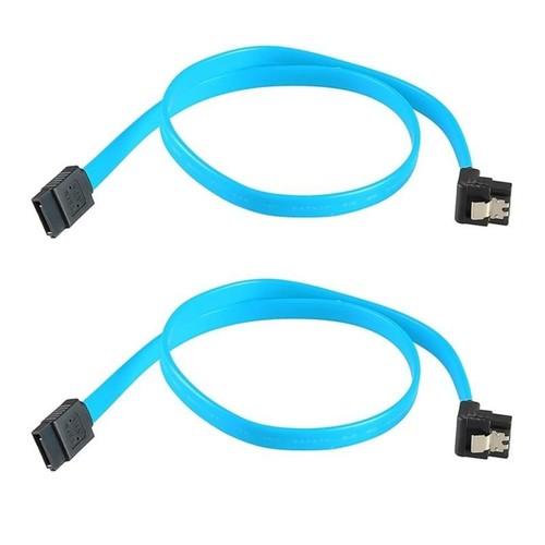 Insten - 2-Pack SATA 3.0 III SATA3 SATAiii High Speed 6GB/s Data Cable Cord - Blue / Black