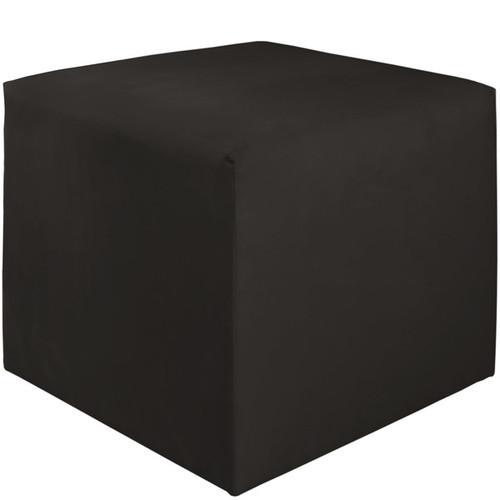 Skyline Furniture Premiere Black Polyester/Pine Cube Ottoman