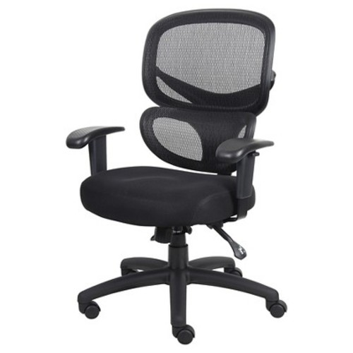 Multi-Function Mesh Task Chair Black - Boss Office Products