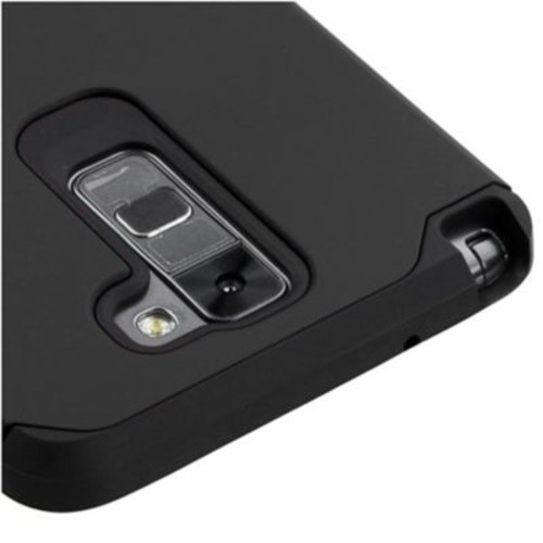 Insten Hard Hybrid Silicone Cover Case For LG G Stylo 2/Stylus 2 - Black