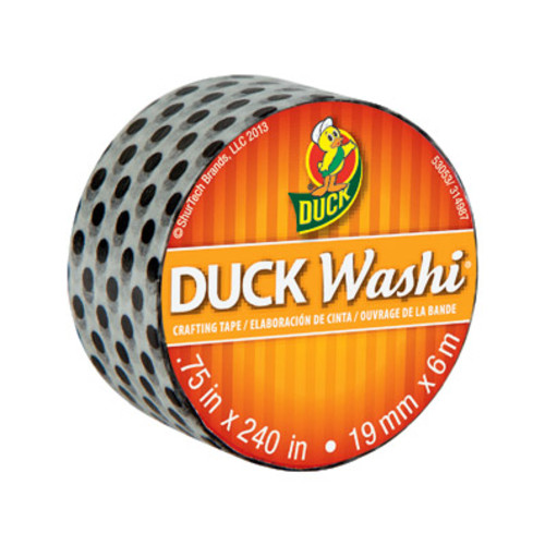 Duck Washi Tape Black Pin Dot