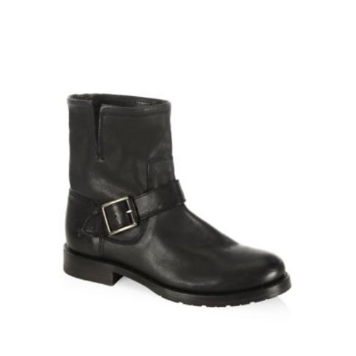 FRYE Natalie Buckle Detailed Leather Boots