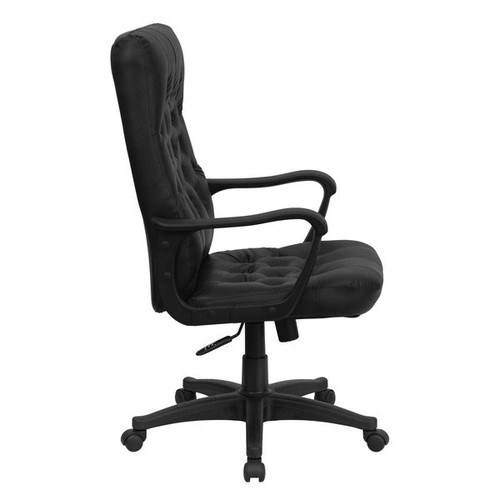 Ruspite Traditional Black Leather Executive Adjustable Swivel Office Chair