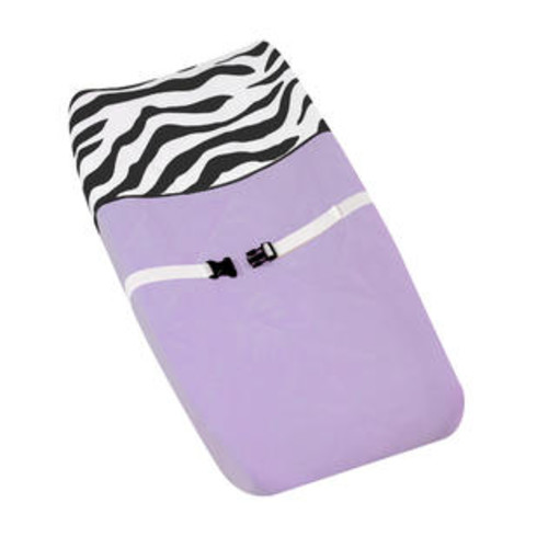 Sweet Jojo Designs Purple Funky Zebra Changing Pad Cover