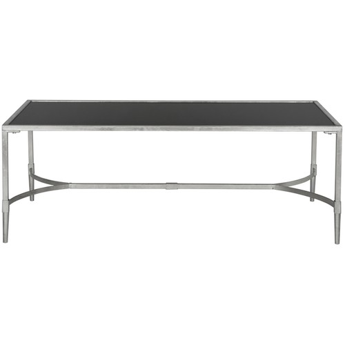Safavieh Antwan Silver Tempered Glass Top Coffee Table