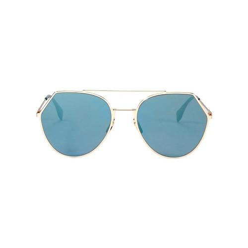 FENDI Angled Blue Flat Sunglasses