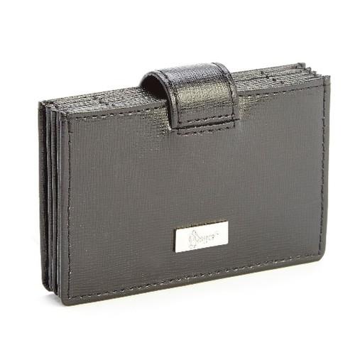 Royce Leather RFID Blocking Credit Card Organizer Wallet inSaffiano Leather