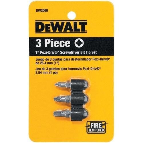 DEWALT DW2069 1-Inch Pozi-Drive Bit Tip Set, 3-Piece