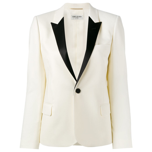 SAINT LAURENT Single Breasted Tuxedo Jacket