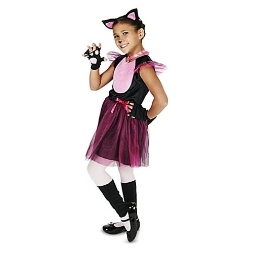 Black and Pink Cat Size Large Child's Halloween Costume