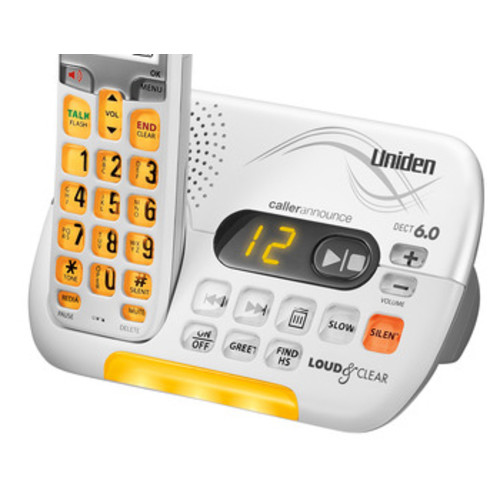 Uniden D3097 Handset Cordless Phone DECT 6.0 Technology Digital Answering System T-Coil Compatible