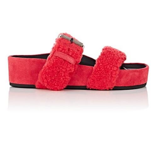 Rag & Bone Evin Shearling Platform Slide Sandals