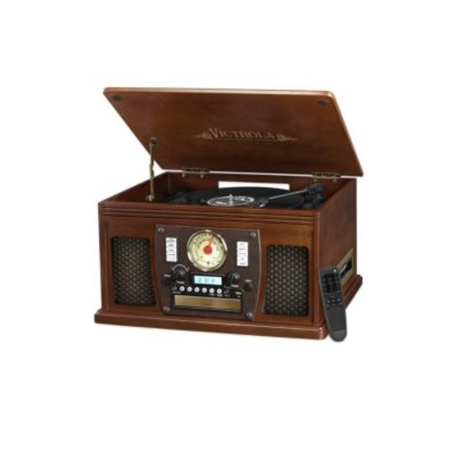 Innovative Technology - Wood 8-In-1 Nostalgic Bluetooth Record Player
