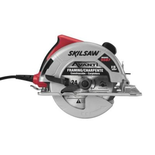Skil 15 Amp Corded Electric 7-1/4 in. Circular Saw with 24-Tooth Blade