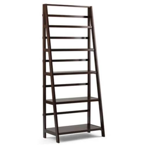 Acadian Pine 72-Inch x 30-Inch 5-Shelf Bookcase in Tobacco Brown