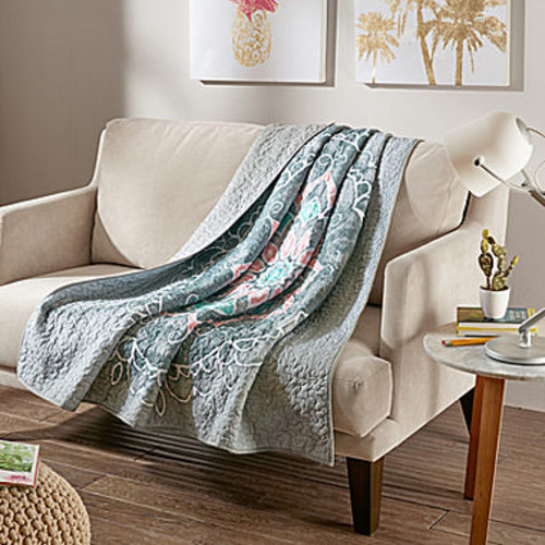 Intelligent Design Medallion Quilted Quilted Throw