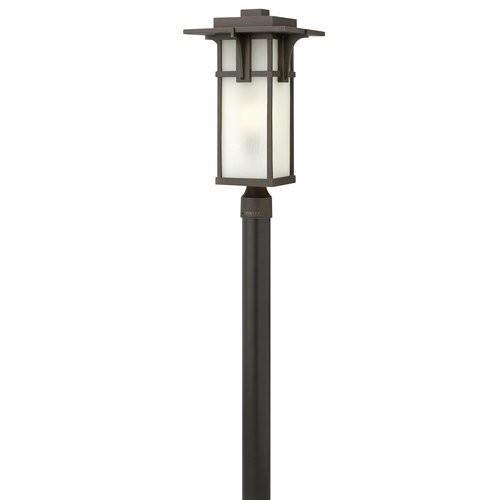 Hinkley 2231OZ-GU24 Transitional One Light Post Top/ Pier Mount from Manhattan collection in Bronze/Darkfinish, [21.5]
