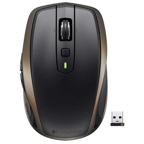 Logitech - MX Anywhere 2 Wireless Laser Mouse - Black