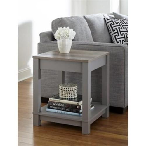 Altra Carver End Table, Gray/Sonoma Oak (5046096COM)