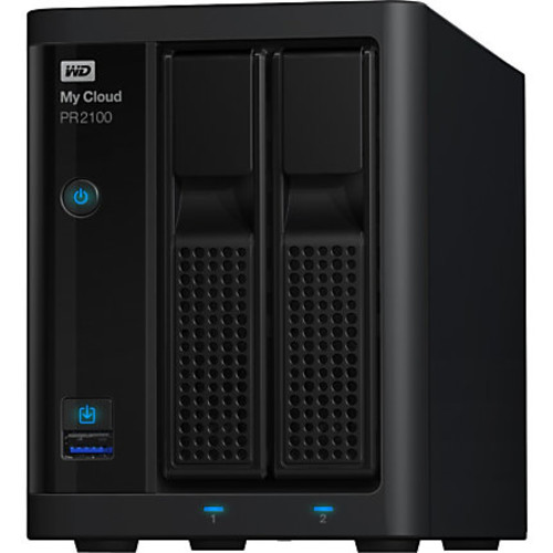 WD 4TB My Cloud PR2100 Pro Series Media Server with Transcoding, NAS - Network Attached Storage